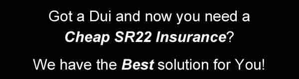 Do you need a cheap sr22 insurance in Bangor? Call us and get back your license now